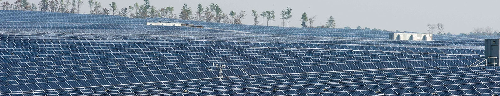 Field of outdoor solar panels
